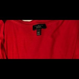 Talbots Tops - Talbots Red tank top, ruched center front